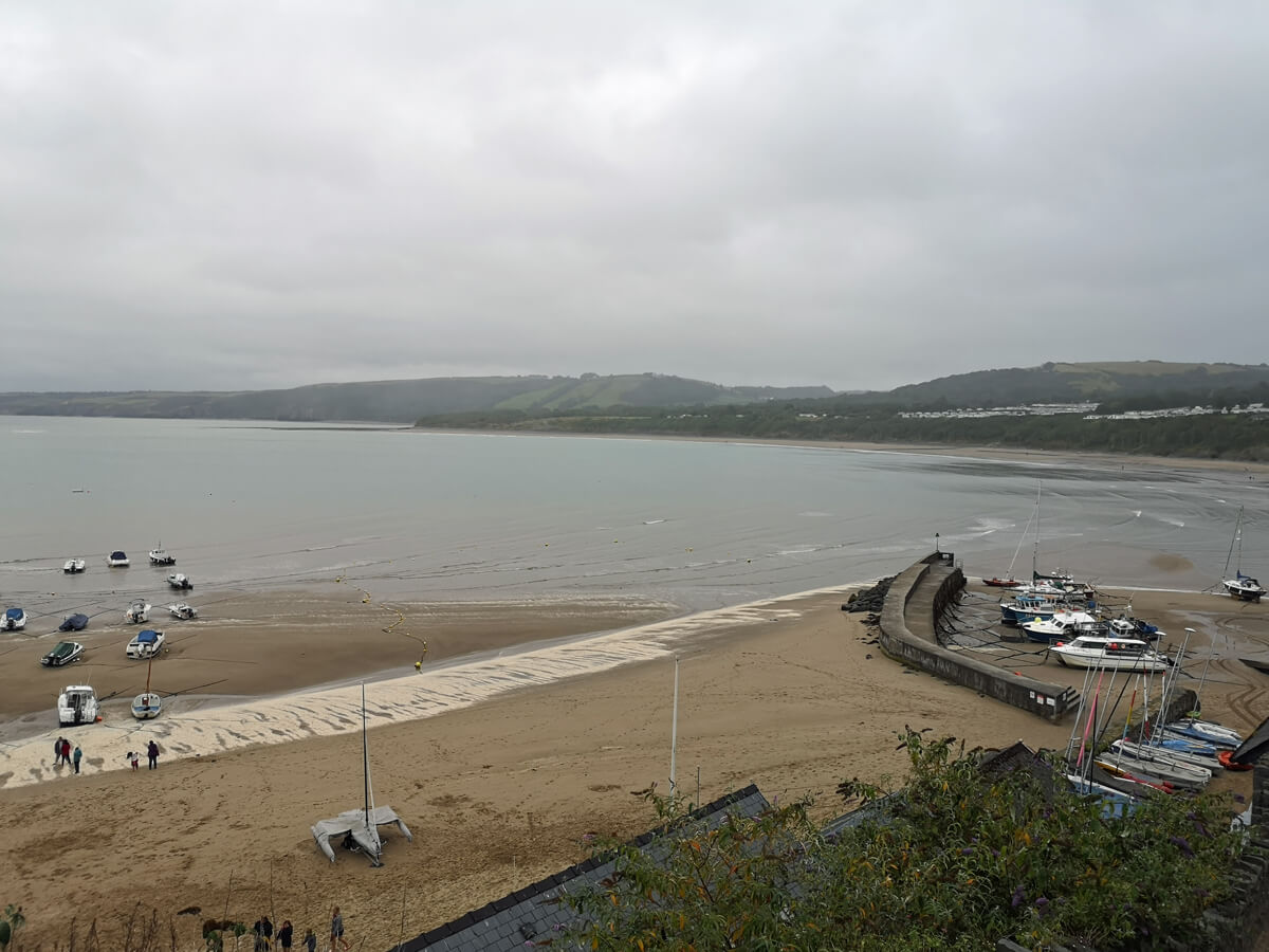 New Quay beach, Wales.