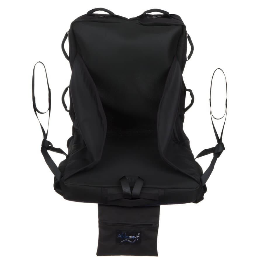 A shot of the easyTravelseat from the front showing the entire seat/sling and handle straps.