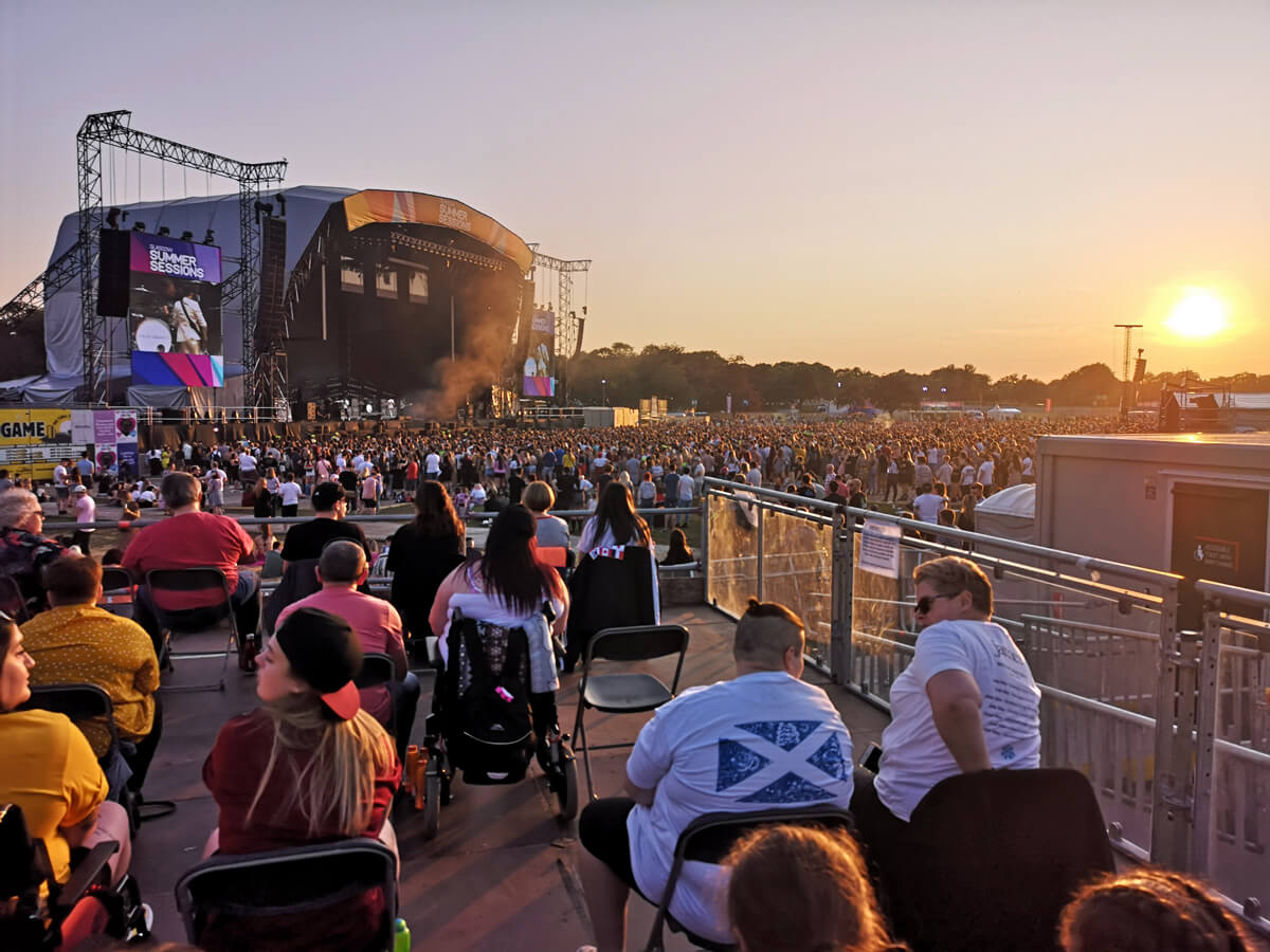 The view from the viewing platform at Glasgow Summer Sessions.