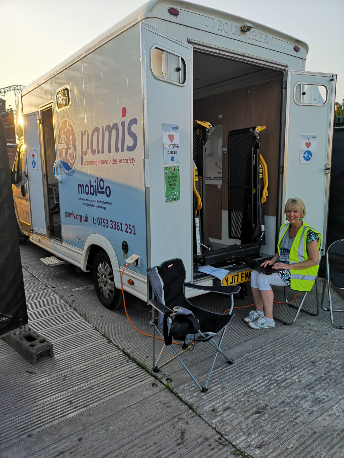 The Changing Places mobile toilet from Pamiloo Pamis.