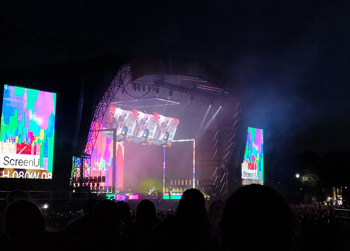 The 1975 onstage at Glasgow Summer Sessions.