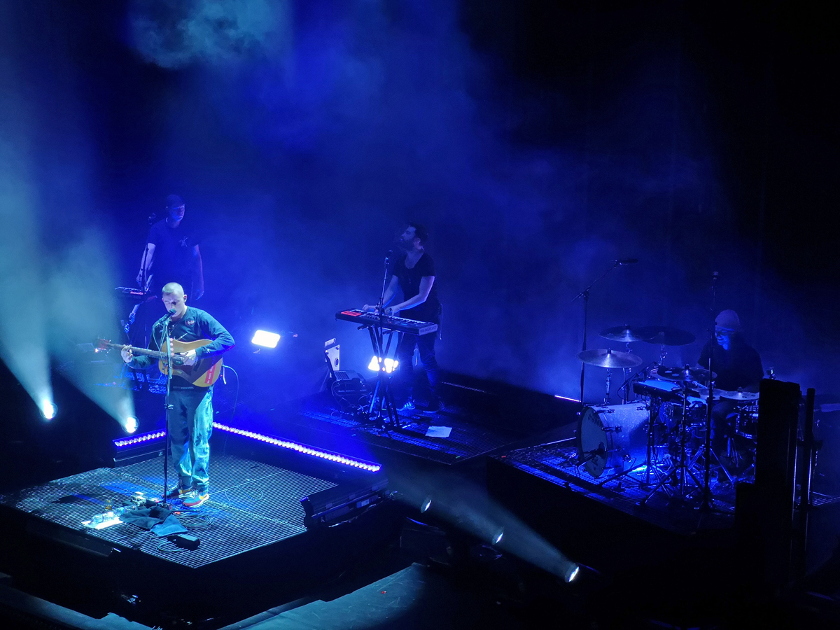 Dermot Kennedy and his band performing onstage at Usher Hall Edinburgh.