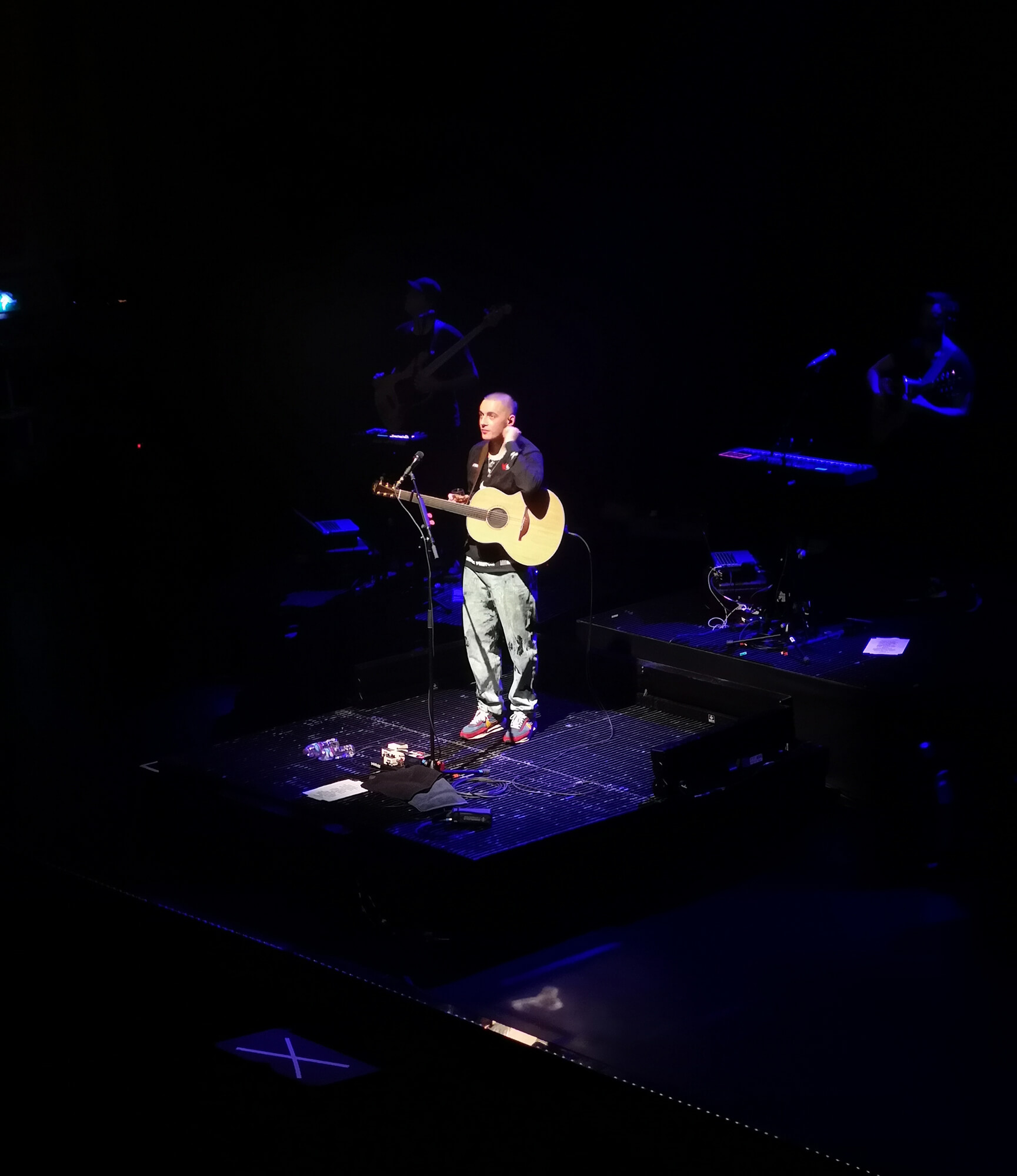 Dermot Kennedy onstage at The Usher Hall in Edinburgh.