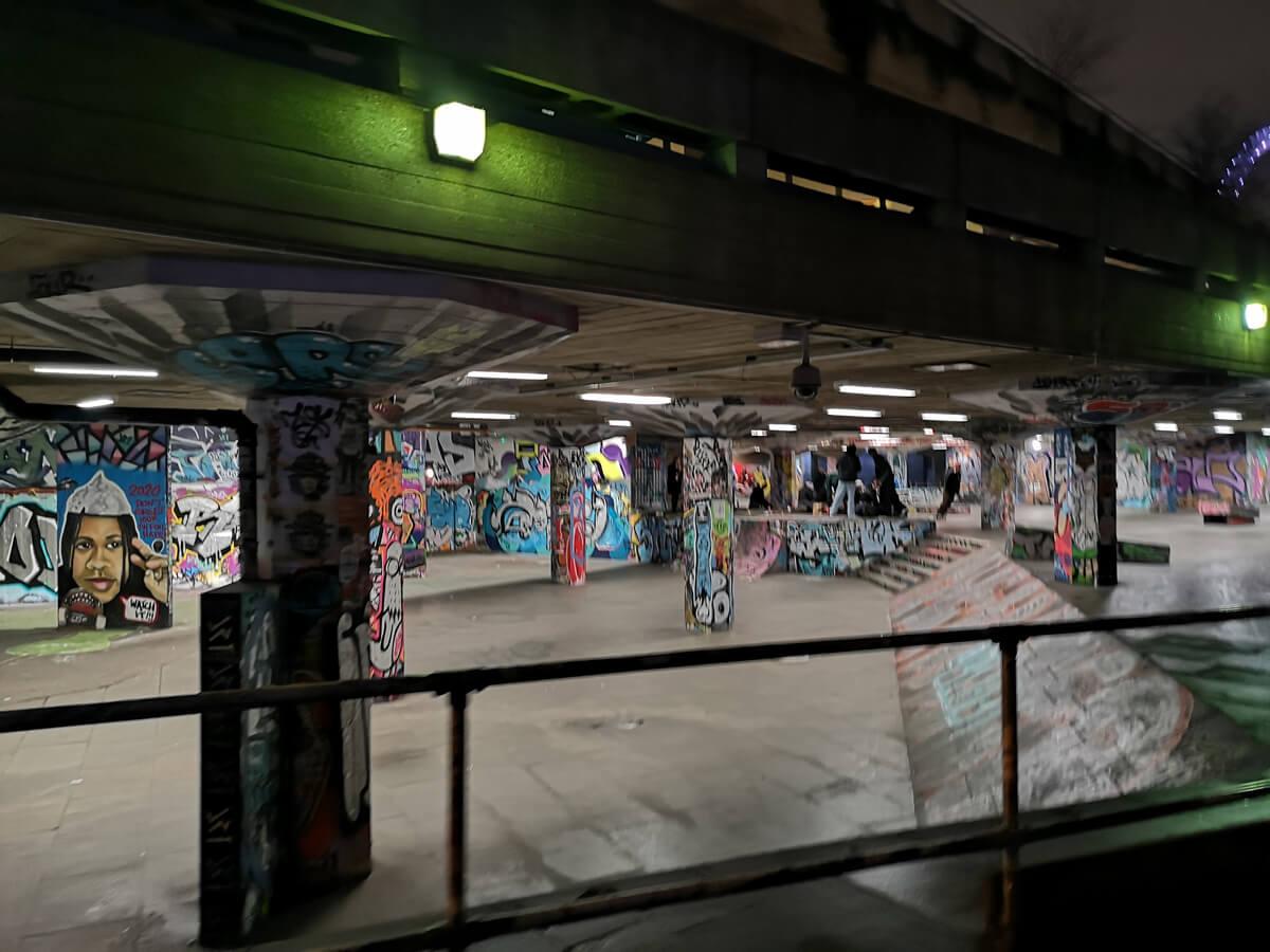 The skate park at South Bank.