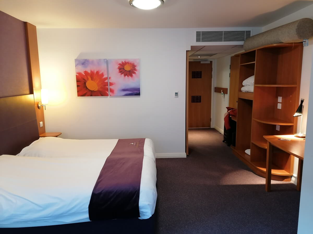 Wheelchair accessible room at Premier Inn Blackfriars