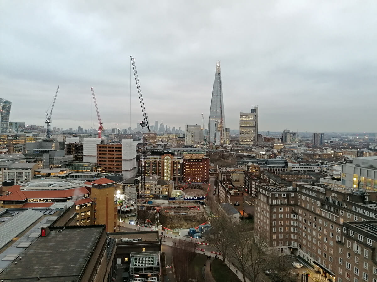 London city skyline from Tate Museum