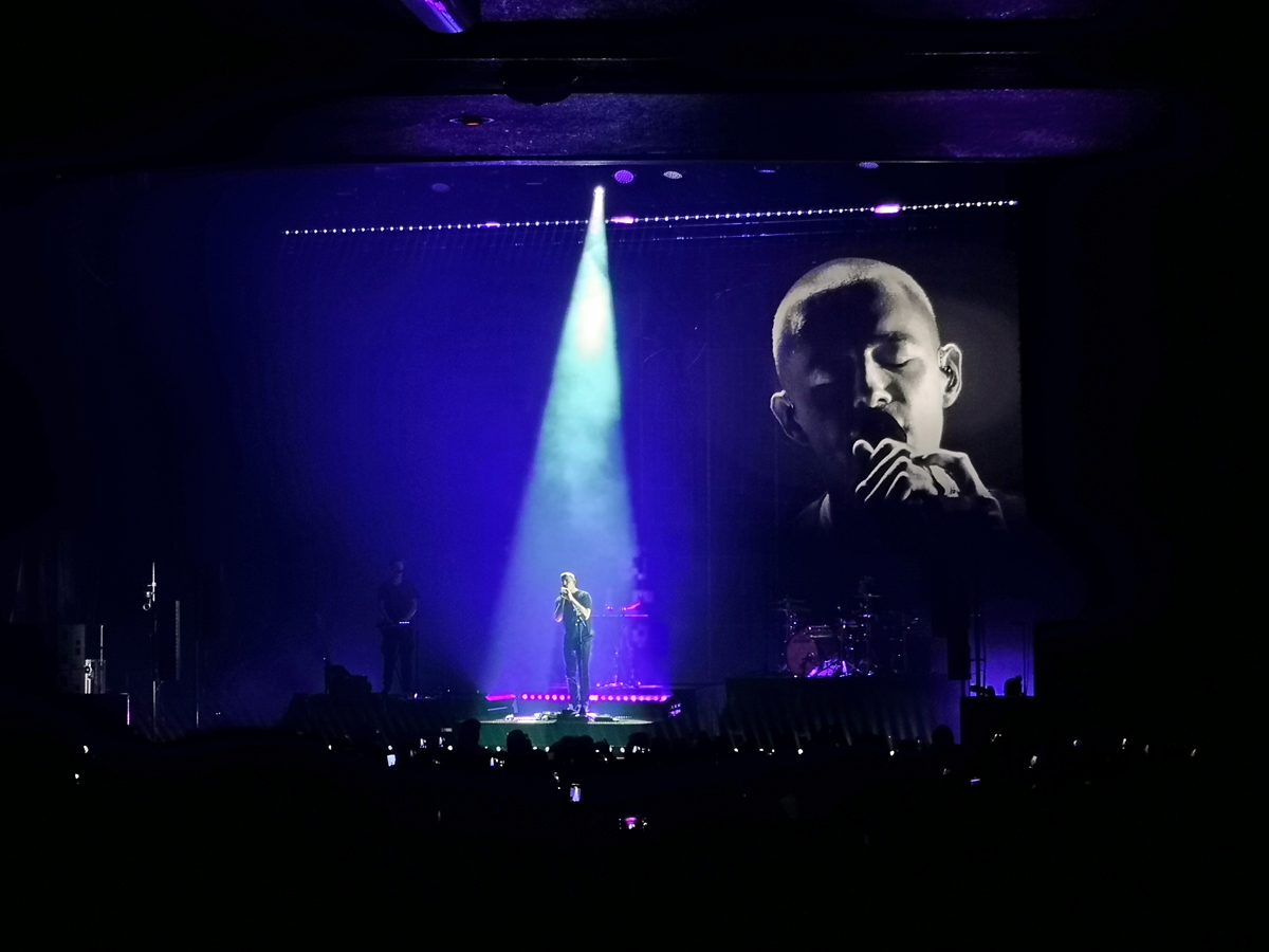 Dermot Kennedy onstage at O2 Apollo Manchester.