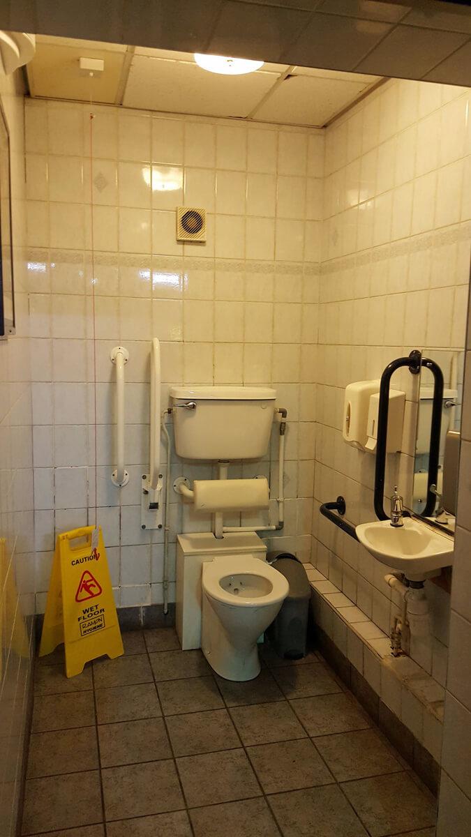 Accessible toilet at O2 Apollo Manchester.