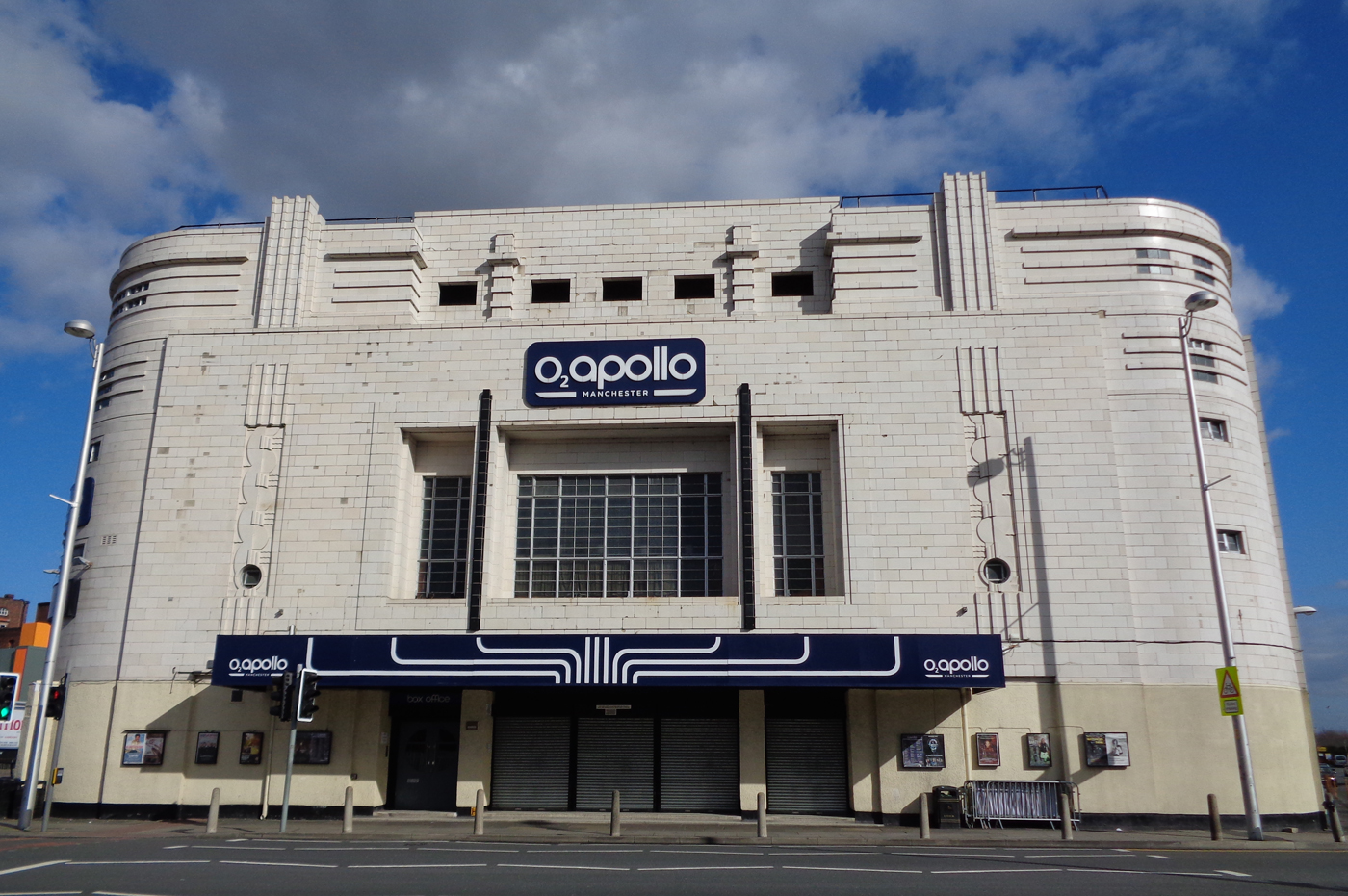 Exterior shot of O2 Apollo Manchester on a clear sunny day.
