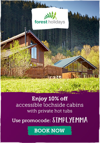Enjoy 10% off accessible lochside cabins | Code SIMPLYEMMA