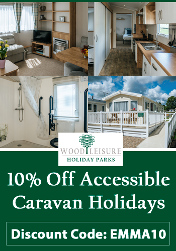10% off accessible caravan holidays | Code EMMA10