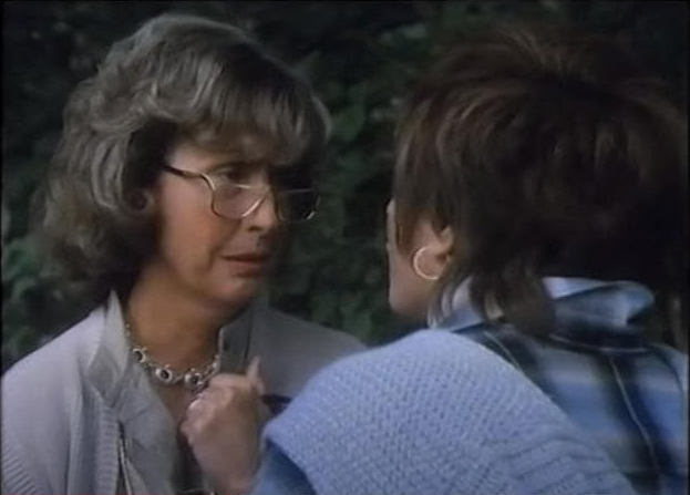 Mary-Lou and her mother in the midst of a heated conversation.