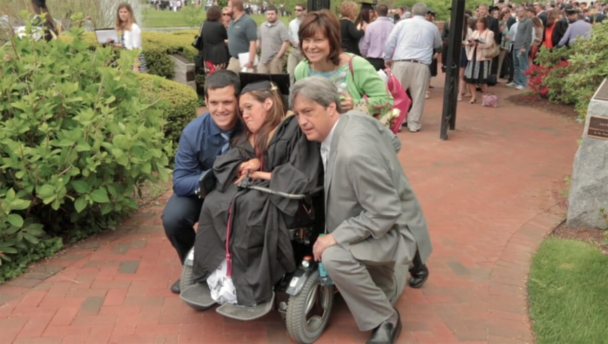 Alyssa at her graduation with her family.