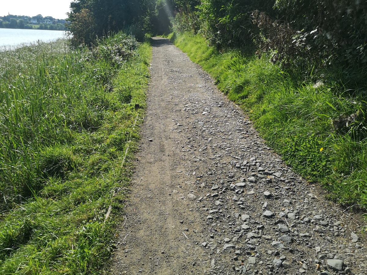 A gravel path around the loch.
