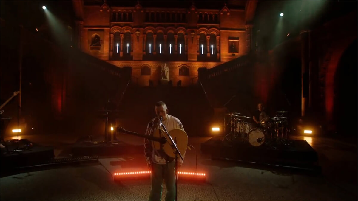 Dermot Kennedy at the virtual gig at Natural History Museum in London.