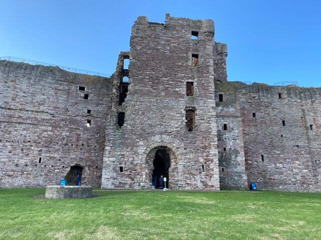 Close up of the entrance to Tantallon Castle