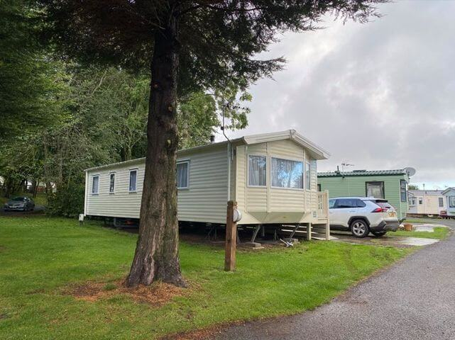An exterior shot of the disabled caravan at Thurston Manor Holiday Park.
