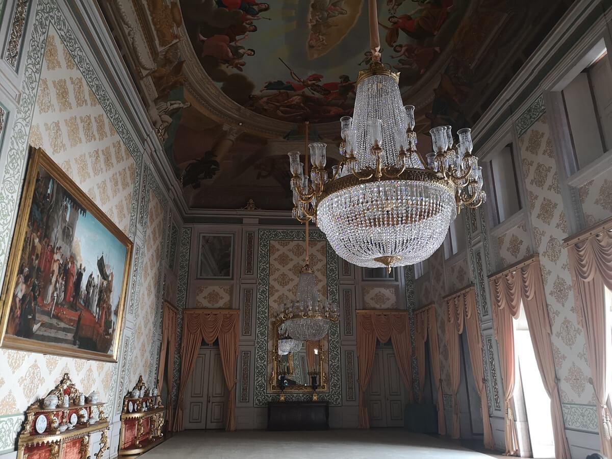 Royal room at the Ajuda National Palace, Portugal.