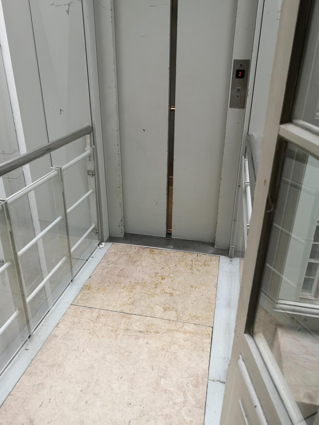 Disabled lift at the Ajuda National Palace, Portugal.