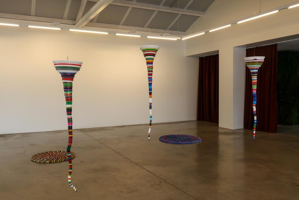 An art installation at Espaço Espelho d'Água