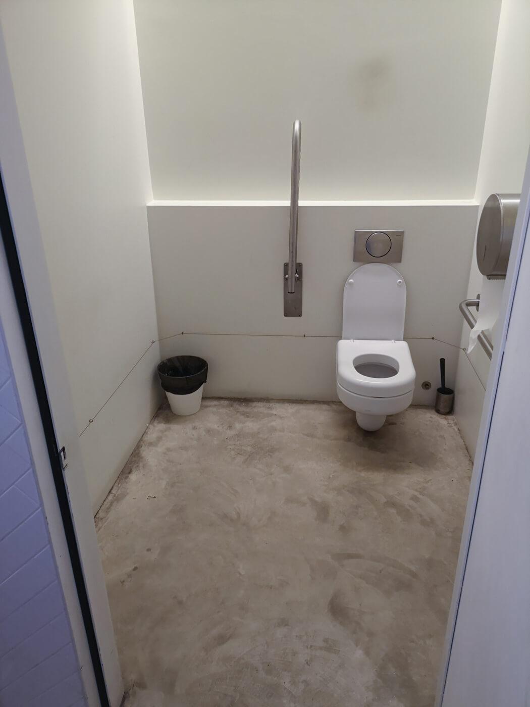 The accessible toilet at Espaço Espelho d'Água