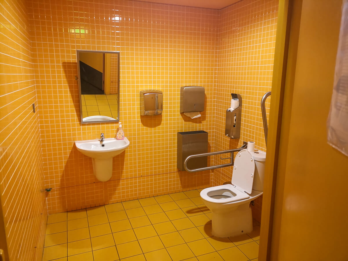 Accessible toilet at Interpretation Centre of Aljubarrota Battle