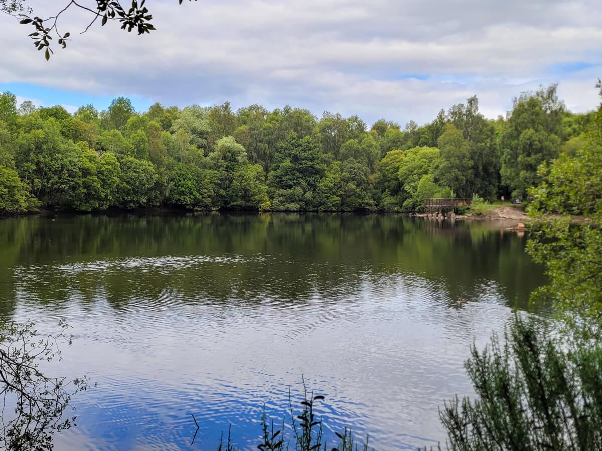A landscape shot of Doune Ponds