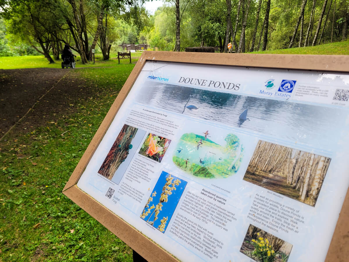 Information board for Doune Ponds