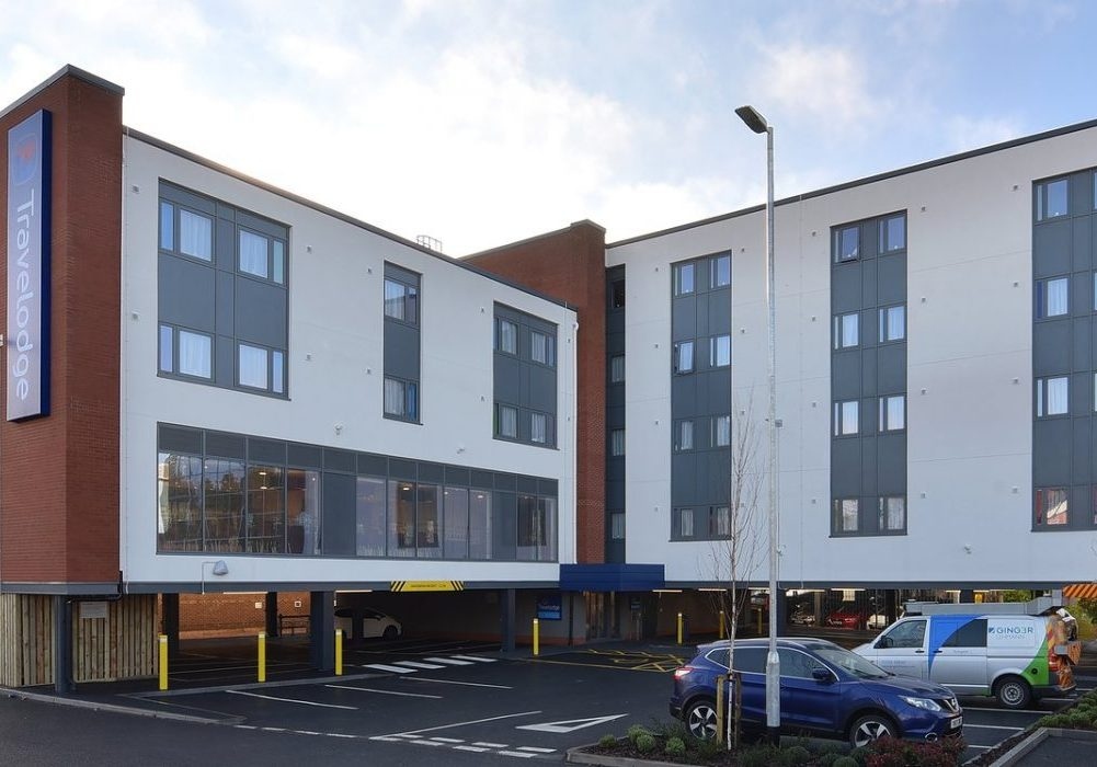 Exterior shot of Travelodge Solihull.