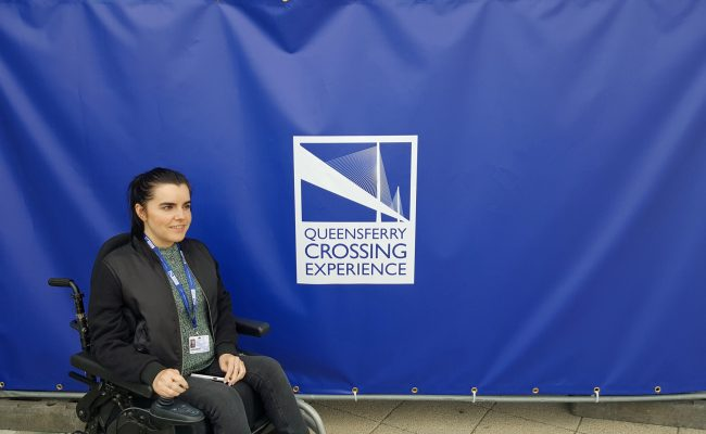 The Queensferry Crossing experience wheelchair user