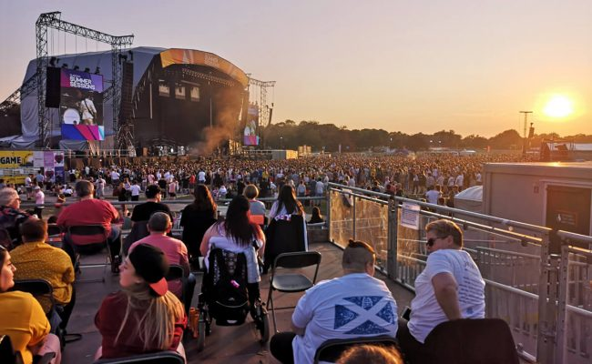 Glasgow Summer Sessions viewing platform.