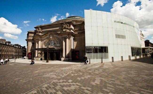 Exterior shot of The Usher Hall Edinburgh